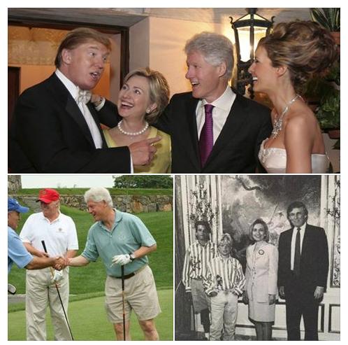 Trump Clinton Election Theatrics