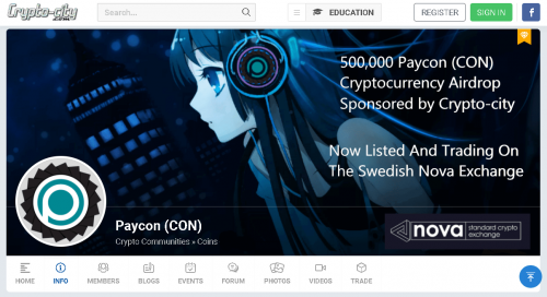 Paycon (CON) Listing on Nova Exchange and Airdrop