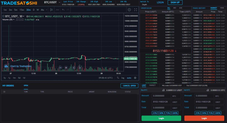 Trade-Satoshi-Exchange-view