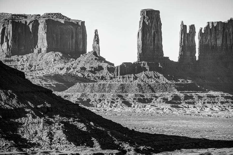 monument-valley-red-rock-formations-arizona-black-and-white-landscape-gregory-ballos