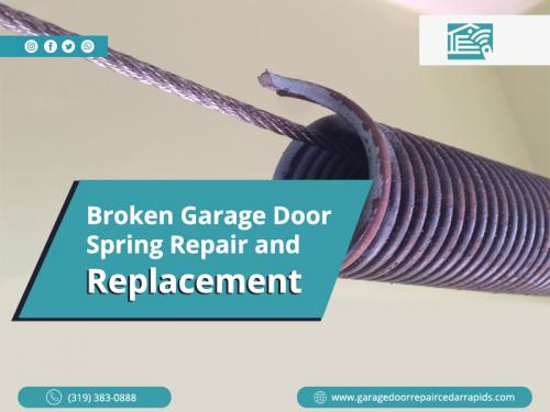 Broken Garage Door Spring Repair and Replacement